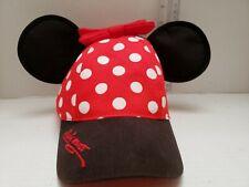 Disney Parks Minnie Mouse Ear Polka Dot Bow Baseball Cap Hat - Youth Size
