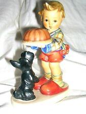 Vintage Hummel Goebel Begging His Share Figurine # 9 Germany Boy W/ A Dog & Cake