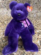 "TY Beanie Baby Buddy 1998 PRINCESS DIANA Purple Bear RETIRED Large 14"" MINT NWT"