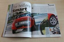 Auto Bild Klassik 1056) Smart Roadster mit 82PS in einer seltenen Vorstellung au