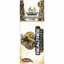 Realtree Camo Leather Scented Air Freshener 3 Pack, Camouflage Car Truck