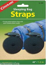 "SLEEPING BAG STRAPS 2, 3/4"" STRONG POLYPROPYLENE WITH QUICK RELEASE BUCKLE"