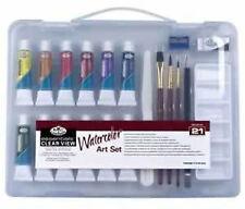 Royal Langnickel Watercolour Painting Set - Sm Clear Case         (RSET-ART3102)