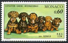 Monaco 1976 Dog Show/Dogs/Dachshunds/Animals/Nature/Pets 1v (n18669)