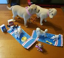 BARBIE DOLL ACCESSORY PETS DOG CAT TANNER TAFFY POODLE FOOD BOWL DOLLHOUSE LOT