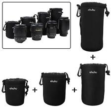 4 Pack Neoprene DSLR Camera Lens Protective Soft Pouch Black Case Bag Canon US