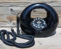 Vintage Black Telephone Donut Landline Phone