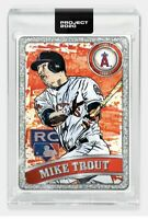 Topps PROJECT 2020 2011 Mike Trout #100 Angels RC by Blake Jamieson Pre-Sale!