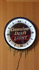 "Genuine Draft Light ""Neon Light""/ Clock - Vintage"