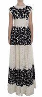 NEW $21000 DOLCE & GABBANA Dress Floral Lace Ricamo Long Ball Maxi IT38 / US4/ S