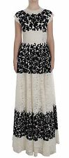 NWT $21000 DOLCE & GABBANA Dress Floral Lace Ricamo Long Ball Maxi IT40 / US6 /S