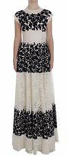 Dolce & Gabbana Dress Floral Lace RICAMO Long Ball Maxi It40 / Us6 /s