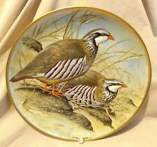 Franklin Porcelain Red Legged Partridge Gamebirds Plate 1979 Haviland Limoges