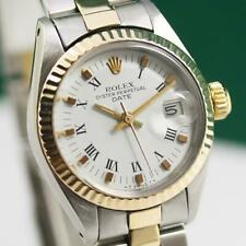 1981's ROLEX DATEJUST 6917 STEEL AND GOLD AUTOMATIC LADIES WATCH ORIG PAPERS