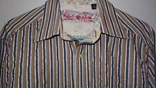 """Unique! Robert Graham L/S Button Casual Shirt Men's L Multi-Color Stripe w/""""RG"""""""