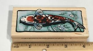 KOI FISH POND WATER Rubber Stamp by STAMPENDOUS