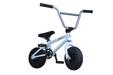 New Pro Premium R4 Mini Bmx Bike Jump Stunt Trick Bicycle, WHITE, PEGS INCLUDED