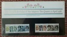1 x 60th Birthday Of The Queen Royal Mail Mint Stamps Presentation Pack - 1986