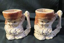 Pair of Vintage 1950s Davy Crocket Character Mugs