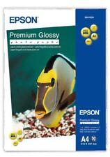 Epson (A4) premium papel fotográfico satinado (50 hojas) 255gsm (Blanco)