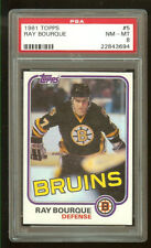 1981 NHL TOPPS #5 RAY BOURQUE, PSA NM-MT 8
