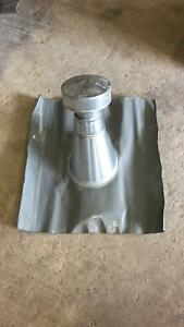 Belüftungsrohr/Entlüftungsrohr/Dunstabzug mit Haube aus Zink - Grundplatte
