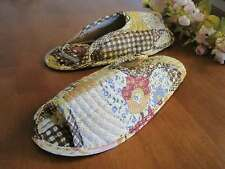 Country Patch Cotton Quilted Soft Flat Shoes Slippers L16