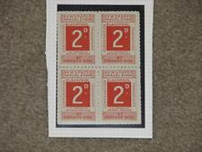 Great Britain Newspaper Parcel Stamps, Blackpool Corporation, 2D, Blk of 4, MNH