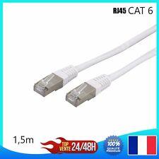 Cable reseau ethernet RJ45 Cat 6 ordinateur console jeux-vidéo 1,2,3,5,10,15,20m