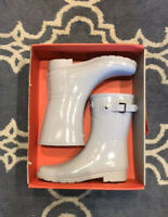 Hunter Refined Short Gloss Rain Boot, NIB Size 8