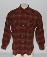 Vintage Pendleton Wool Cowboy Shirt Pearl Snaps Mens Large High Western Wear
