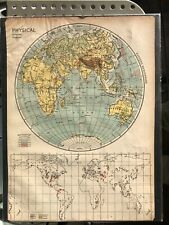 Physical Map of the World 1937 1942
