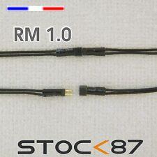 3006# micro connecteur câblé 2 fils noir/noir pas 1mm - mâle + femelle - train
