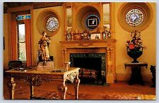 Wilson Castle French Drawing Room Proctor, Vermont Chrome Postcard Unused