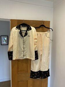 Women's CLIO PEPPIATT X TINDER Yellow Matchstick Sequin Detail Pyjamas Size S