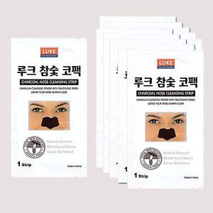 20pcs Korean Charcoal Nose Pore Cleansing Strips Blackhead Peel Off mask pack