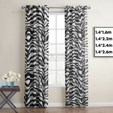 Moroccan Printed Blackout Curtains for Kids Room Eyelet Thermal Insulated