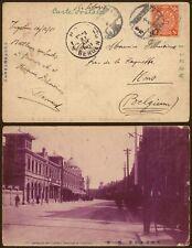 China 1911 Dragon - Postcard Tientsin to Mons Belgium