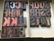 """Letterpress Wood Type  """"Capital Letters """"  3 5/8 Inch"""