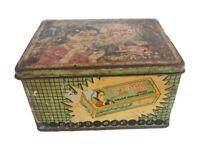 Old Vintage Mirgnani  Kajal Makeup Kajal Powder / Eyeliner Litho tin Box /  Case