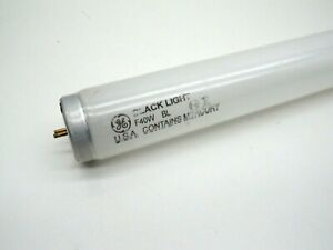 (2Pack) GE F40BL Fluorescent 40W Blacklight Lamp Bulb Shatterproof Safety Coated