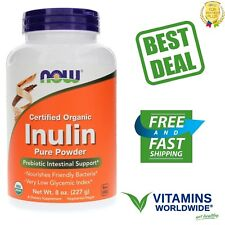 Now Foods Inulin Powder Organic Prebiotic Intestinal Support Pure 8 oz (227 g)