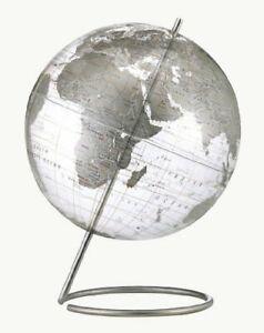 Replogle Crystal Marquise Desktop Globe, Clear Silver