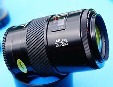 Minolta AF Zoom 100-200mm f4.5 Lens, w.hood tested on sony a99ii sharp copy a77