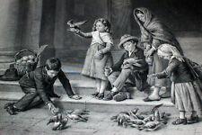 1880 ART JOURNAL Steel Engravings Painters Cairo Egypt Bulgaria Children & Birds
