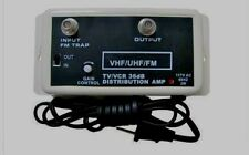 NEW 36DB  HDTV VHF UHF HI GAIN AMP ANTENNA AMPLIFIER SIGNAL POWER BOOSTER