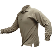 Vertx Men's Coldblack Long Sleeve Polo Tan Vtx4020P Vtx4020P-Tn-Xl