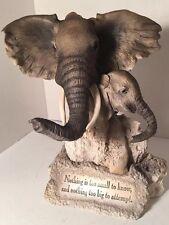 Dennis Franzen Collection Roman Inc 2 Piece Elephant Statue W Verse 1998 Retired