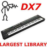 Yamaha DX7 DX5 TX7 TX802 TX816 DX200 70,000 Sound Program Patch Largest Library