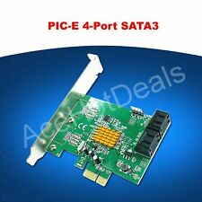 PCI-E SATA3.0 expansion card 4 port SATA3 SATA III 6G Marvell chip